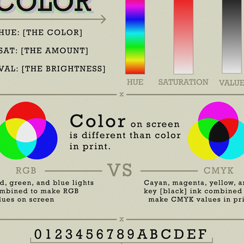 Infographic design based on color