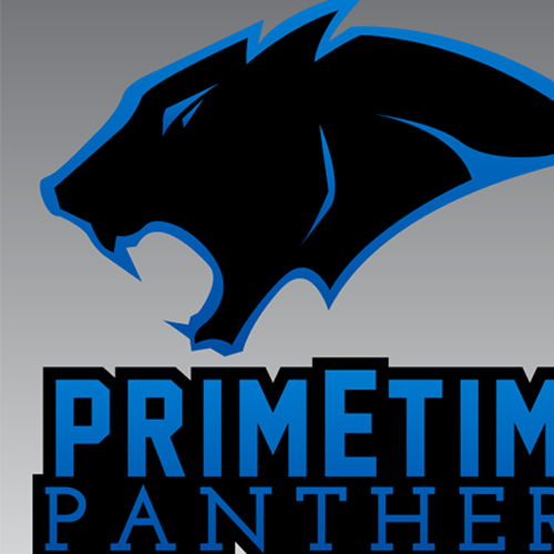 Prime Time Panthers Football Logo Design